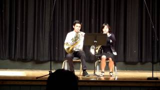 Summer Institute of the Arts July, 17 2014, WHS, Minuet, French Horn Duet