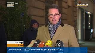 Statement von Andreas Scheuer zum aktuellen Stand der Sondierungsgespräche am 09.01.18