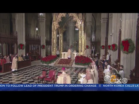 Faithful Celebrate Midnight Mass At St. Patrick's Cathedral