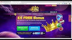King Jackpot - Get £20 Free To Play online Bingo, No Deposit Bingo