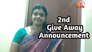 2nd  Give Away Announcement in Tamil