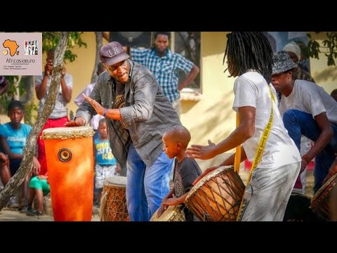 { IVORY COAST PERCUSSIONIST } CONSTANCE BOTI DRUMMING in ...