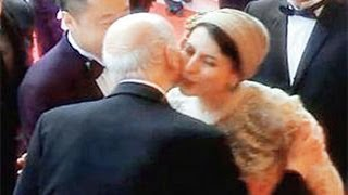 Liela Hatami KISSING Gilles Jacob On Cheek At Cannes WORTH 50 Lashes (Video)!!!