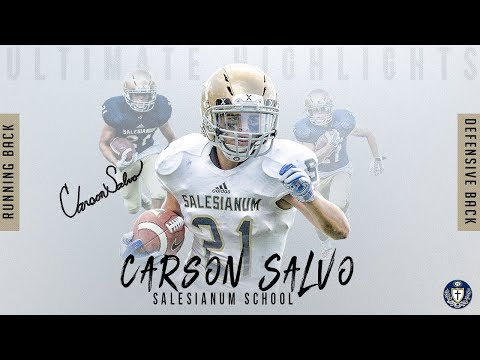 Carson Salvo Ultimate Highlight, Salesianum School