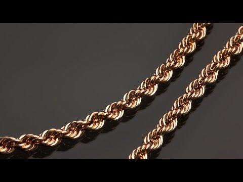 Как делают золотые цепочки. Производство цепочек из золота