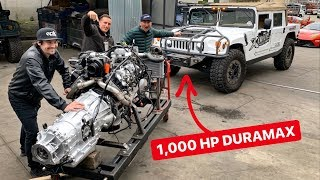 1000 HP DURAMAX SWAPPING MY HUMMER H1 PREDATOR BUILD!