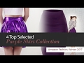 4 Top Selected Purple Skirt Collection Amazon Fashion, Winter 2017