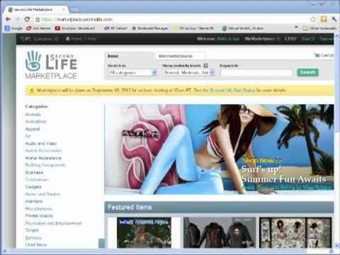 Second Life Marketplace How To List Items Youtube