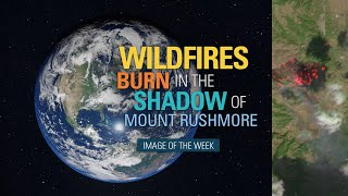 Wildfires Burn in the Shadow of Mount Rushmore
