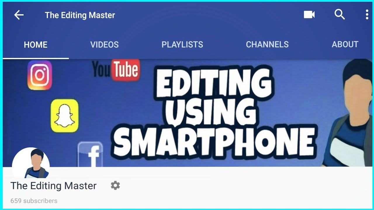 CHANNEL TRAILER | THE EDITING MASTER - YouTube