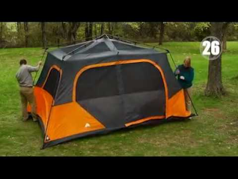 Ozark Trail Instant 13u0027 x 9u0027 Cabin C&ing Tent Sleeps - 8 Person - All Season Tent & Ozark Trail Instant 13u0027 x 9u0027 Cabin Camping Tent Sleeps - 8 Person ...
