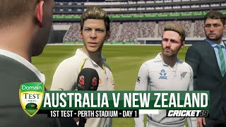 Australia v New Zealand - First Test | Day 1 Highlights - Cricket 19