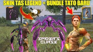 SKIN TAS LEGEND SPIDER'S CURSE & BUNDLE TATO BARU SUMMER HOLIDAYS! BOCORAN UPDATE FREE FIRE