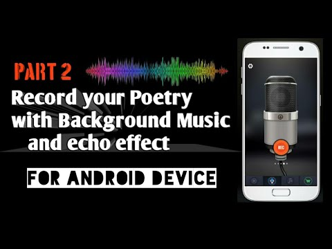How to record Poetry with music|Record Shayri with background music and echo effect|Shahid Dash|