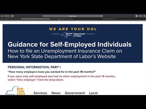 How to file a claim for Unemployment Insurance in NY,  Uber or Lyft Driver, or Any Self Employed