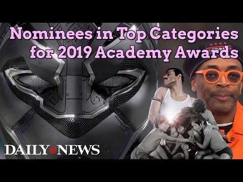 Oscar nominees in 2019's top categories