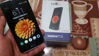 7 Design        Unboxing LG K7