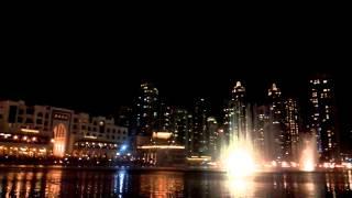 Dubai, Burj Halifa fountains, Elissa - Abali Habibi