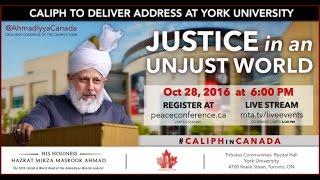 York University Peace Symposium - Justice in Unjust World -Huzoor leaving York University