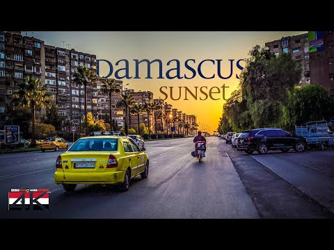 【4K】Driving at Sunset through Damascus (Syria) | 2020