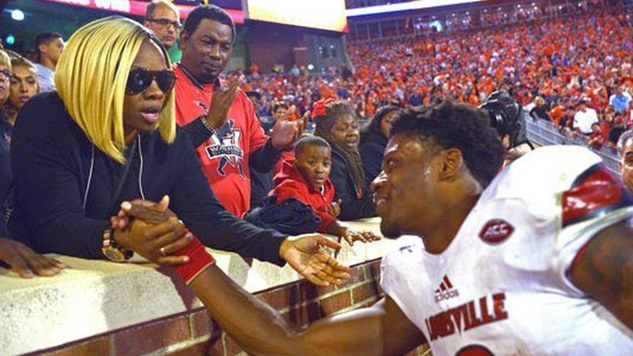 Louisville Qb Lamar Jackson Picks His Own Mom To Be His Agent Ahead Of The Nfl Draft Youtube