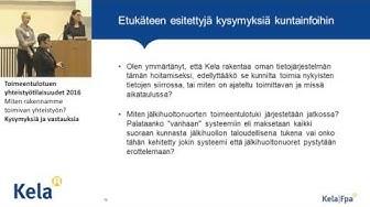Toimeentulotuen yhteistyötilaisuudet 2016 Helsinki, Kysymyksiä ja vastauksia