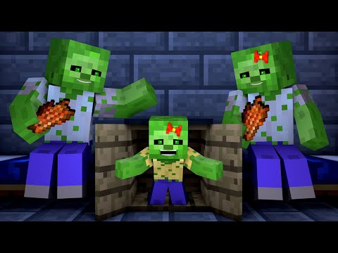 Zombie vs Villager Life 6 - Alien Being Minecraft Animation