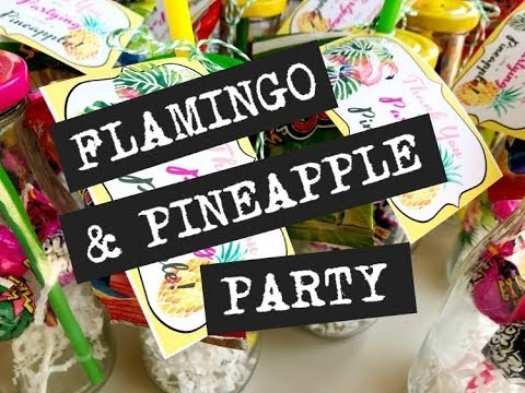 Flamingo and Pineapple Birthday Party