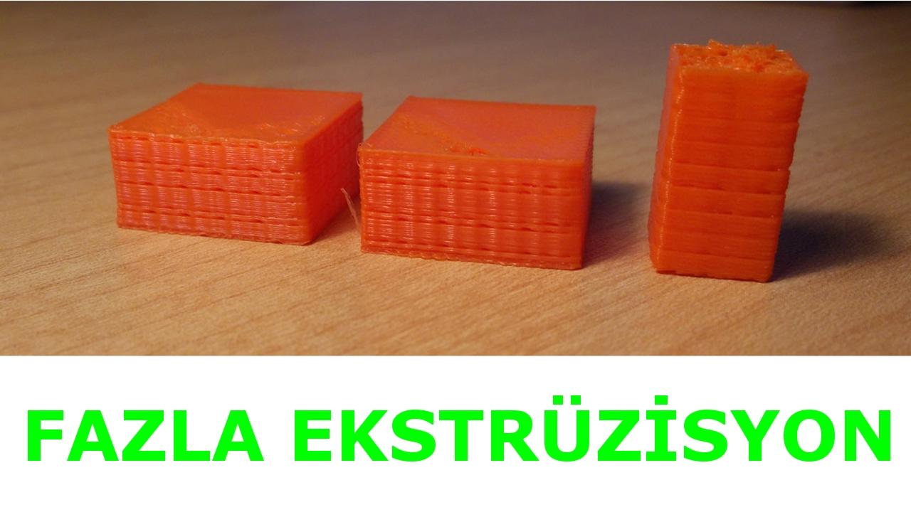 3D Yazıcı Problemleri   4 Eksik Ekstrüzisyon (Under Extrusion)