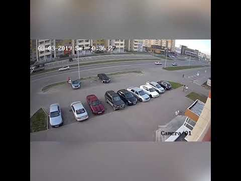Момент смертельного ДТП на Балтийской, г.Барнаул