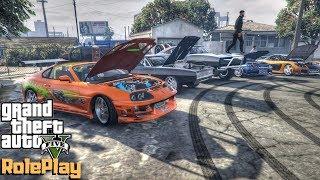 """Gta 5 Redlinerp - """"fast & Furious Car Meet"""" - Ep. 440 - Cv"""