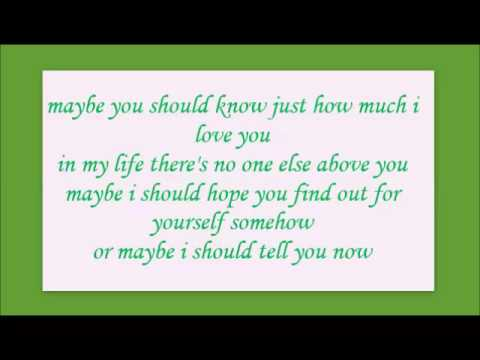 maybe you should know - kenny rogers