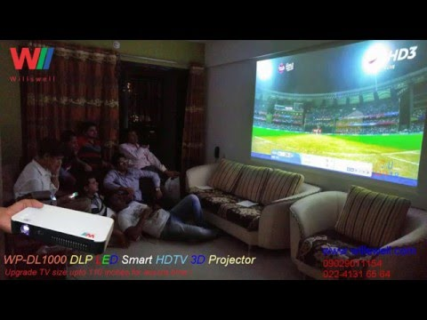 WP-DL1000 DLP LED HDTV 3D Projector with Android, Wi-Fi, BT