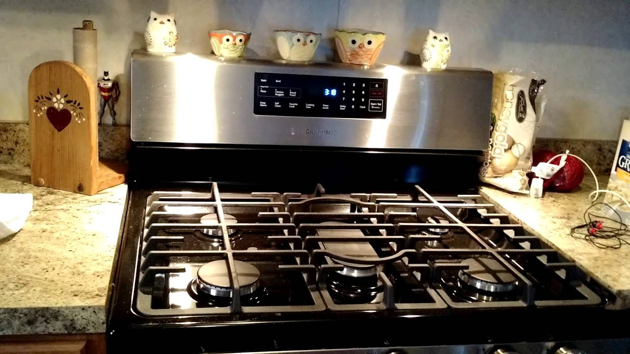 Samsung 5 Burner Freestanding 5.8 Cu Ft Gas Range Review   YouTube