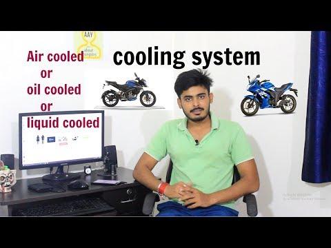bike engine cooling system work.{pulsar ns160-oil cooled,hornet-air cooled}