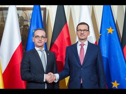 Mateusz Morawiecki z Ministrem Spraw Zagranicznych Niemiec Heiko Maasem