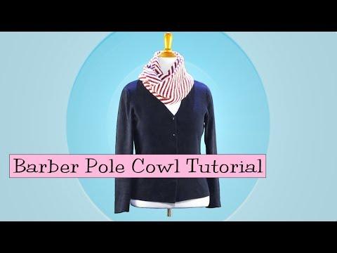 Barber Pole Cowl Tutorial