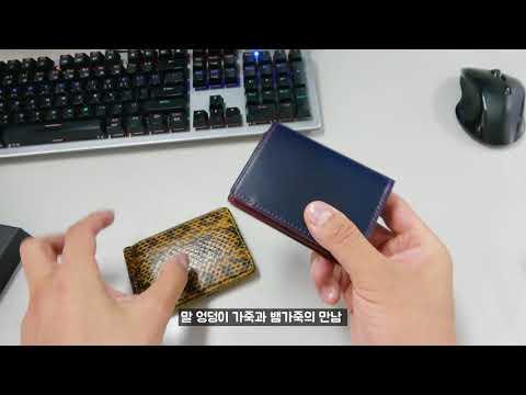 다비드 뉴욕 코도반 카드 지갑