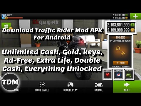 Download Traffic Rider MOD Apk | Unlimited Cash, Gold, Keys, Ad-Free, Extra Life, Double Cash