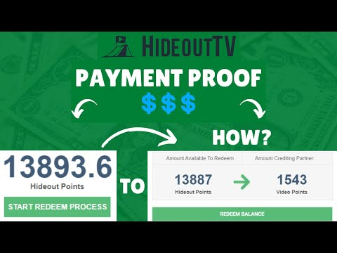 HideoutTV Payment Proof - I Earned 2,232 Hideout Points This Week