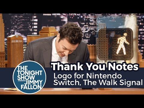 Thank You Notes: Logo for Nintendo Switch, The Walk Signal Guy