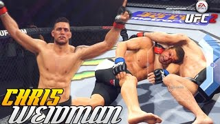 Chris Weidman Will Choke You Out Like Darth Vader! EA Sports UFC 2 Online Gameplay