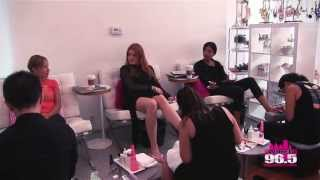 Wired Winners get mani/pedis with Ghia & Icona Pop!!