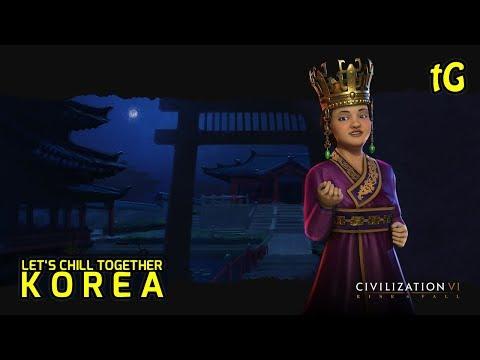 Civilization 6 - Korea & Chill - Narrative, Huge Fractal Map, Explore Rise & Fall #2