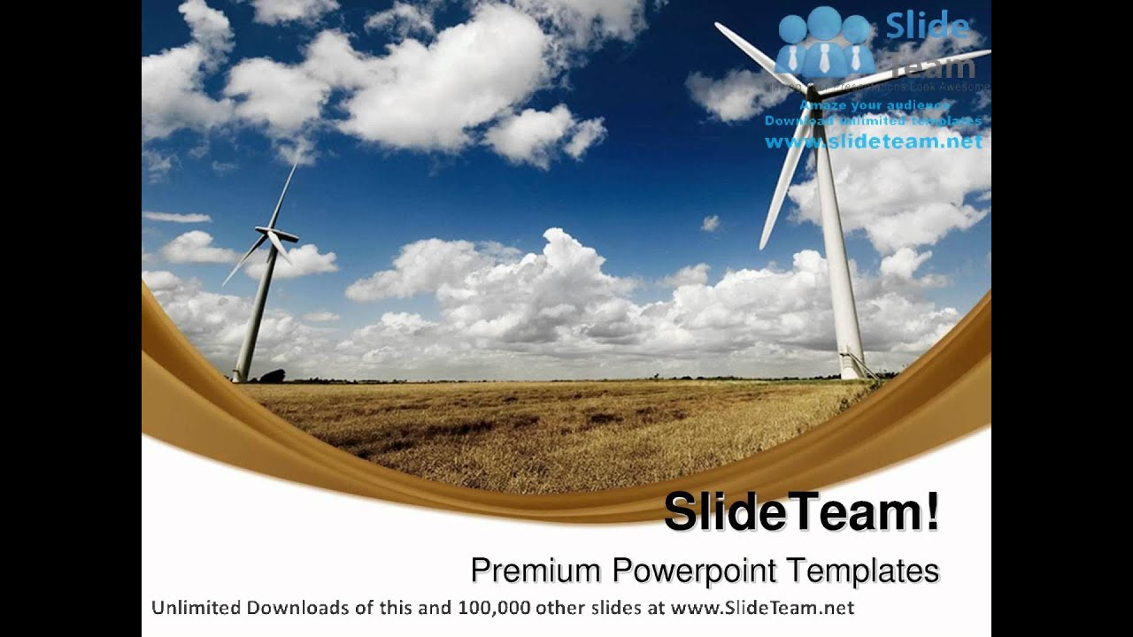 Windmills Renewable Energy Science PowerPoint Templates Themes And  Backgrounds ppt slide designs