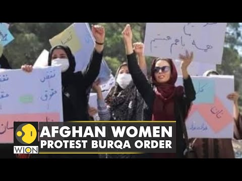 Hundreds of Afghan women take to social media to protest against Taliban's burqa diktat