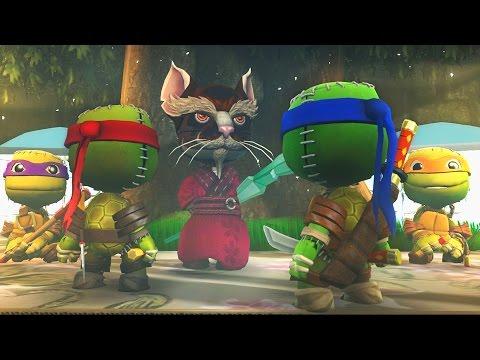 LittleBigPlanet 3 - TMNT Leonardo VS Raphael - Teenage Mutant Ninja Turtles - Epic Fight Animation