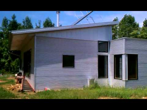 Walking Around The Off Grid Passive Solar Prefab Home