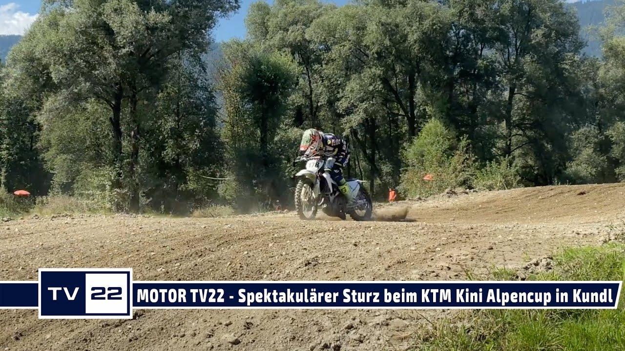 MOTOR TV22: Spektakulärer Crash beim Motocross - Sturz in der MX Hobby Klasse beim Alpencup