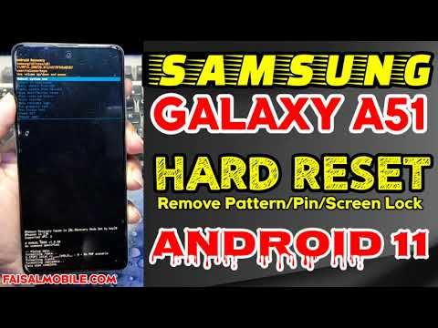 Samsung A51 Hard Reset Android 11 Remove Pattern/Pin/Lock Screen || Hard Reset Not Working Fix 2021